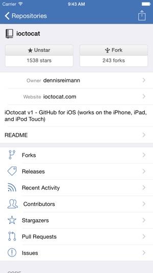iOctocat Screenshot