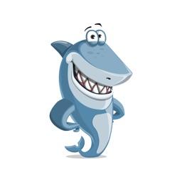 Cartoon Shark Sticker Vol 01