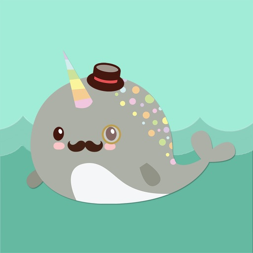 Narwhal Emoji Sticker Pack with Kawaii Faces