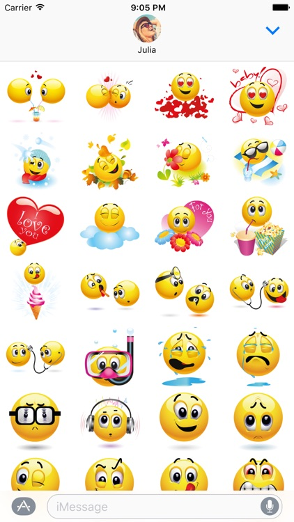 Emoji Stickers Pack for iMessage