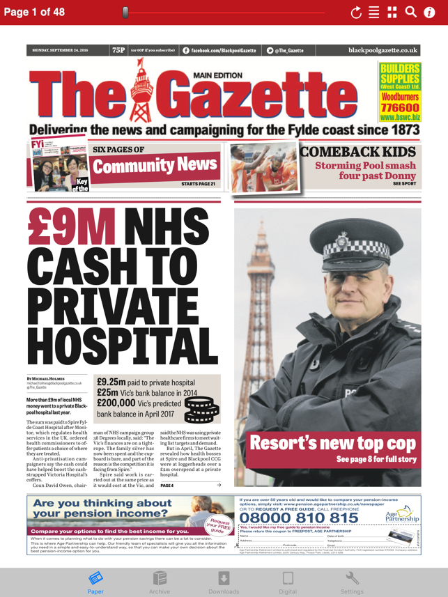 The Blackpool Gazette Newspaper On The App Store