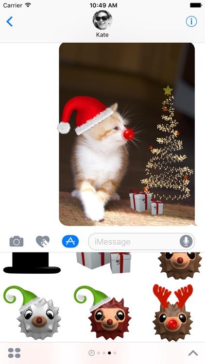 HedgeHoger Heads Christmas Stickers