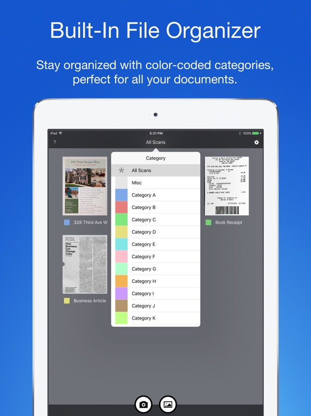 Smart PDF Scanner: Scan Documents and Receipts Screenshot