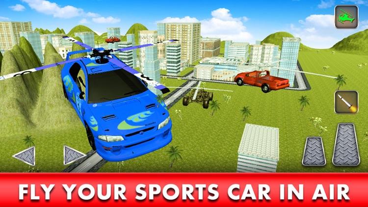 Flying Racing Car Simulator: Futuristic Airplay screenshot-3