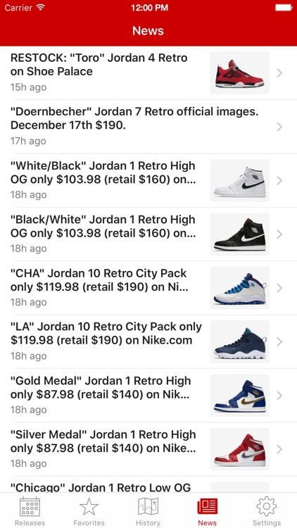 J23 - Jordan Release Dates and History app image