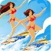 サーファーガール - ビッグブルーウェーブの上のベイサーフィン(無料ゲーム)