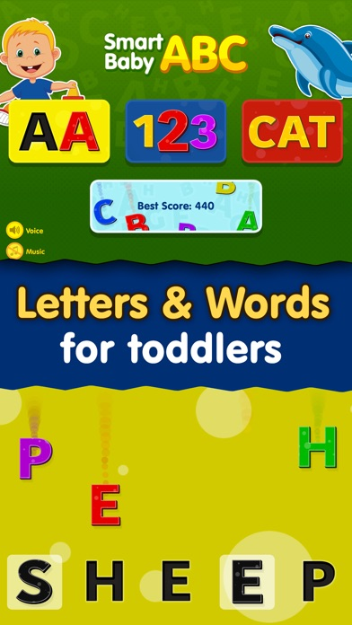Smart Baby ABC Games: Toddler Kids Learning Apps Screenshot