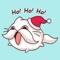 Cat Winter Christmas Stickers