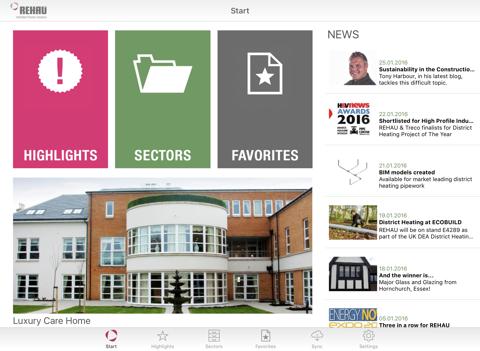 REHAU Docs App - náhled