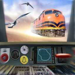 Flying Train. Drive Simulator