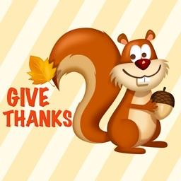 Thanksgiving Sticker - Happy Holiday Emoji