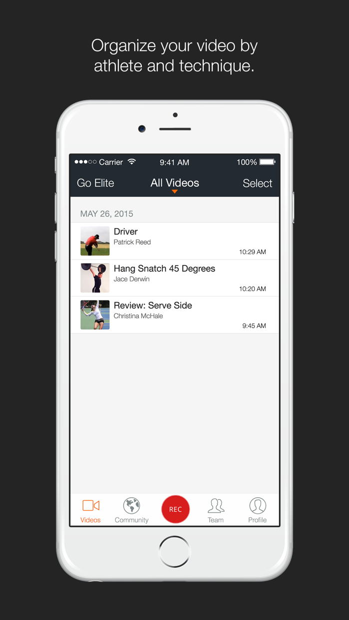 Hudl Technique Screenshot