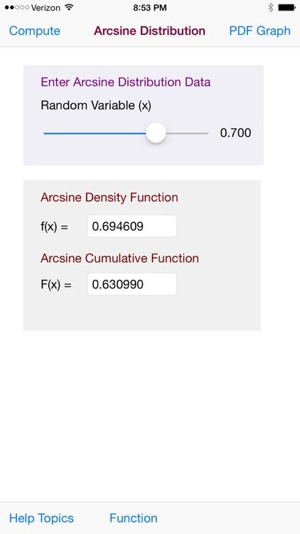 Arcsine Distribution screenshot-4