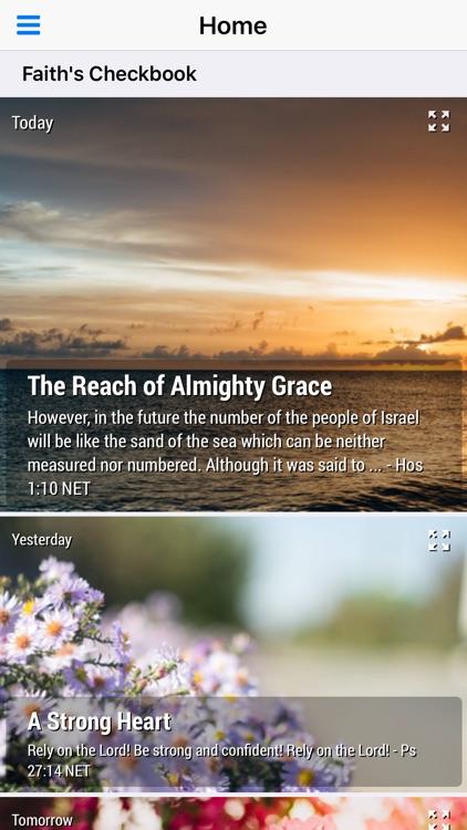 God's Promises - Faith's Checkbook Daily Devotional