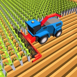 Blocky Plow Farming Harvester:Farming Simulator