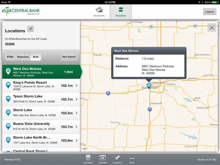 Central Bank Mobile Banking for iPad screenshot-4