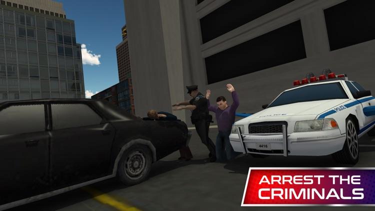 Flying Police Car Simulator & Cop driver games screenshot-3