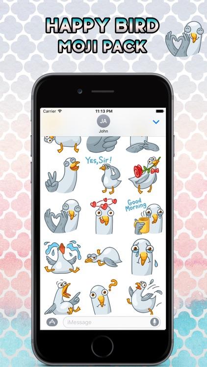 Happy Bird Emoji Stickers - for iMessage
