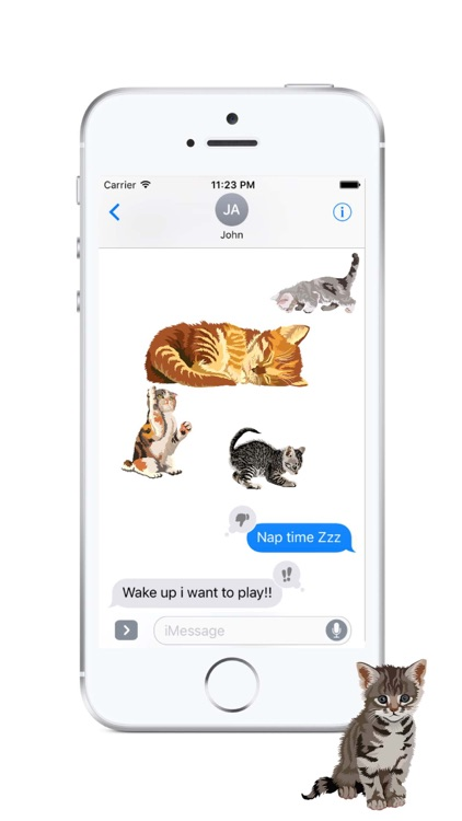 Cute Kittens - Cat Art, Stickers screenshot-1