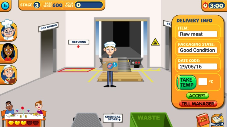 A Game to Train Food Safety screenshot-4