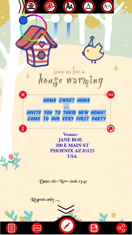 Housewarming Party Invitation Cards Maker screenshot-3