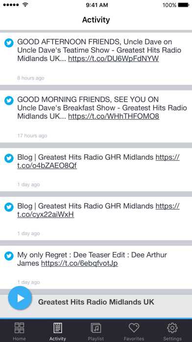 Greatest Hits Radio Midlands UK screenshot three