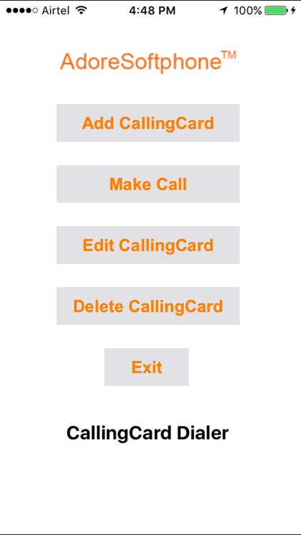 Adore Calling Card Dialer screenshot-1