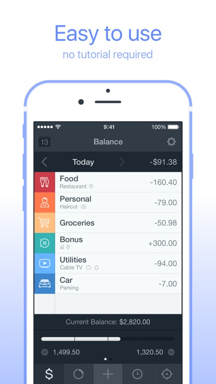 Saver – Personal Finance, Income & Expense tracker screenshot-0