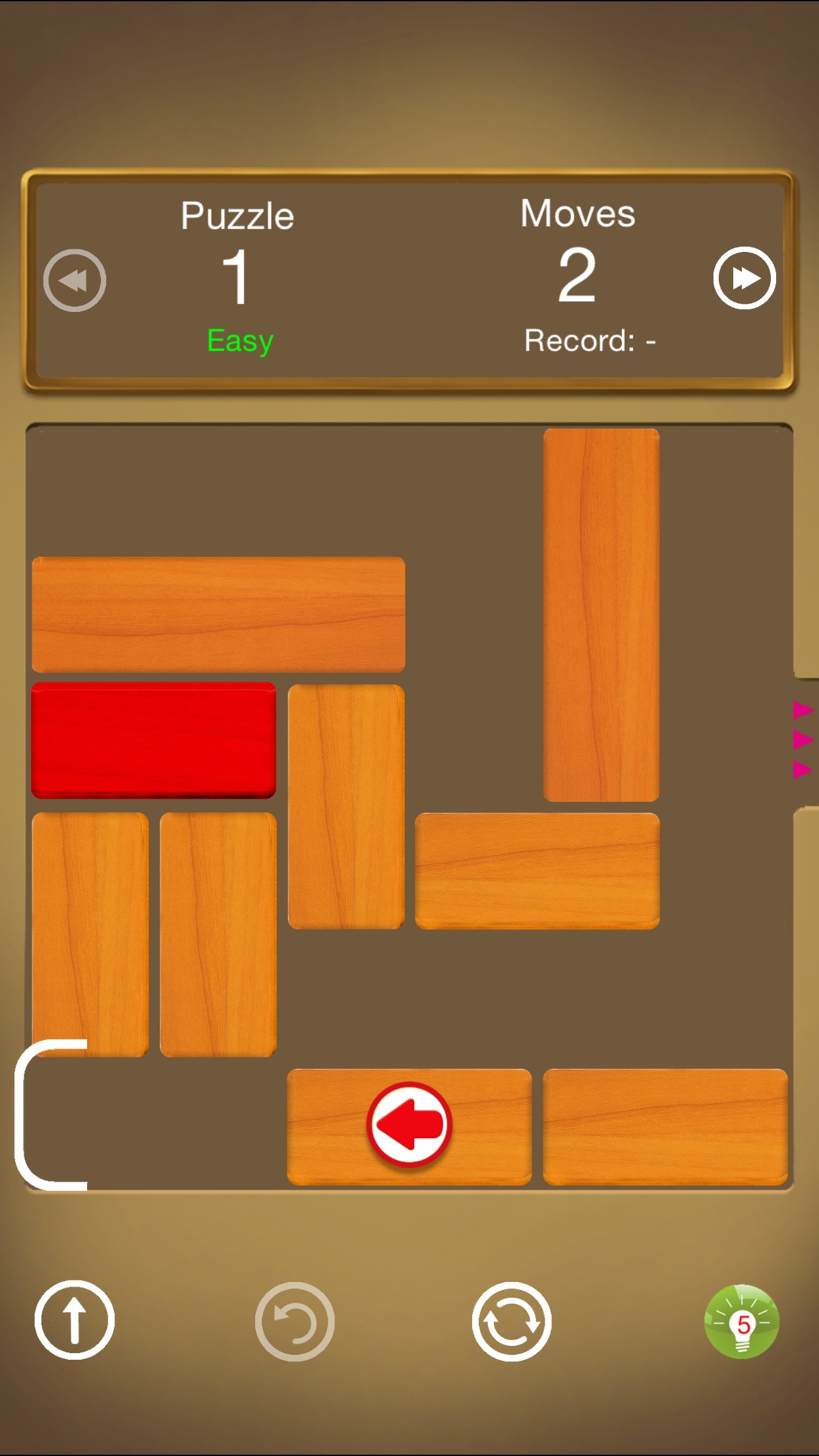 Unblock - Swipe My Block Out Walls Screenshot