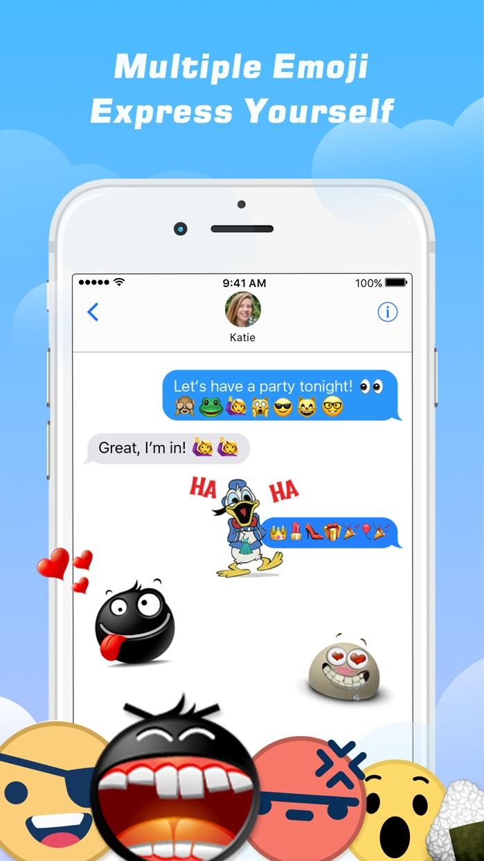 Emoji Free – Emoticons Art and Cool Fonts Keyboard Screenshot