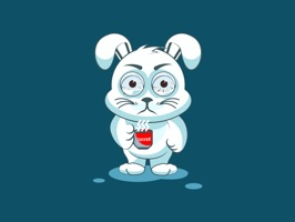 White Leveret - Stickers for iMessage