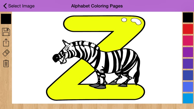 Alphabet Coloring Pages - Coloring book screenshot-3