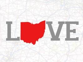Love Ohio Stickers