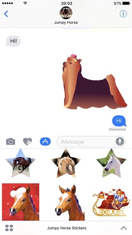 Jumpy Horse Stickers screenshot-3