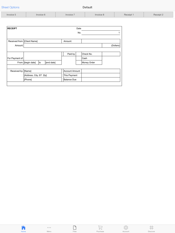 Business Invoices Screenshots