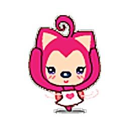 Playful Pink Fox