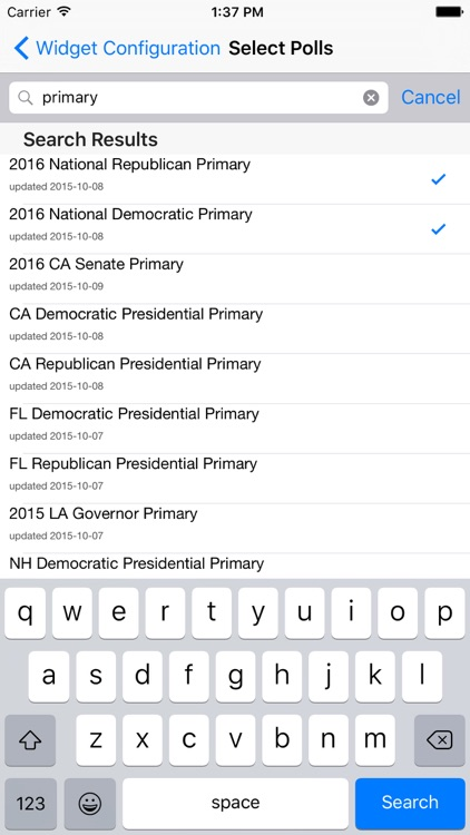 Election 2016: Poll Tracker Today Widget + Flappy Candidate Game screenshot-3