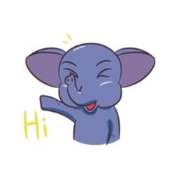Funny Elephant Sticker