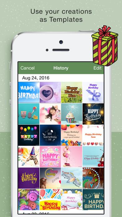 Happy BirthDay Cards Maker screenshot four