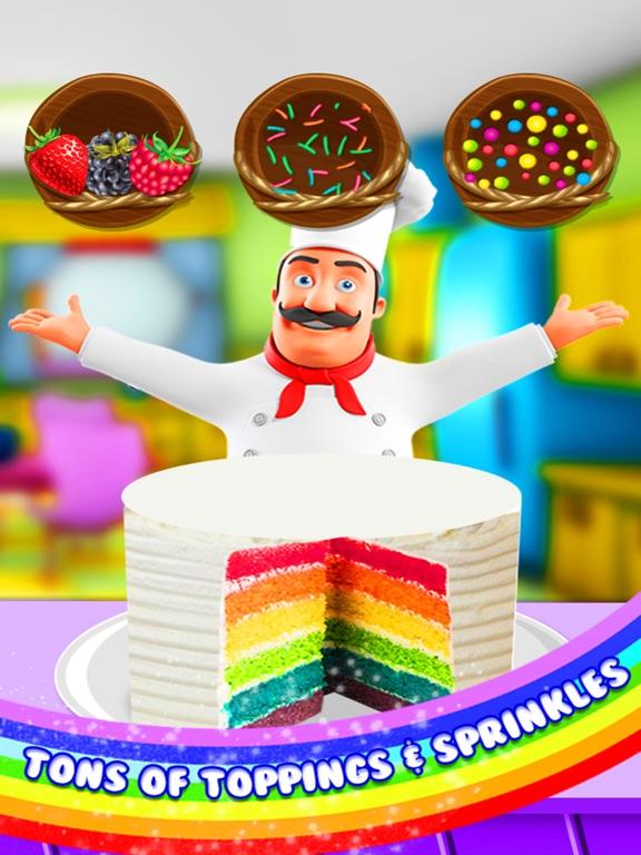 Pleasing Rainbow Cake Maker Koken Rainbow Birthday Cake App Voor Iphone Funny Birthday Cards Online Alyptdamsfinfo