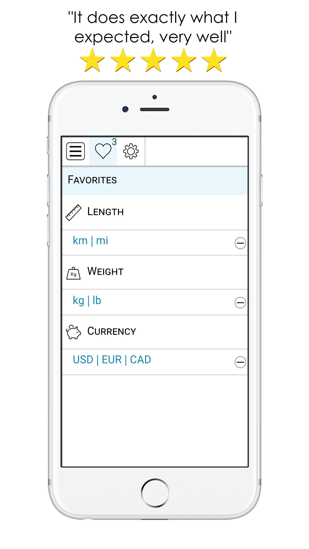 Equal=It-Best Unit converter and currency exchange Screenshot