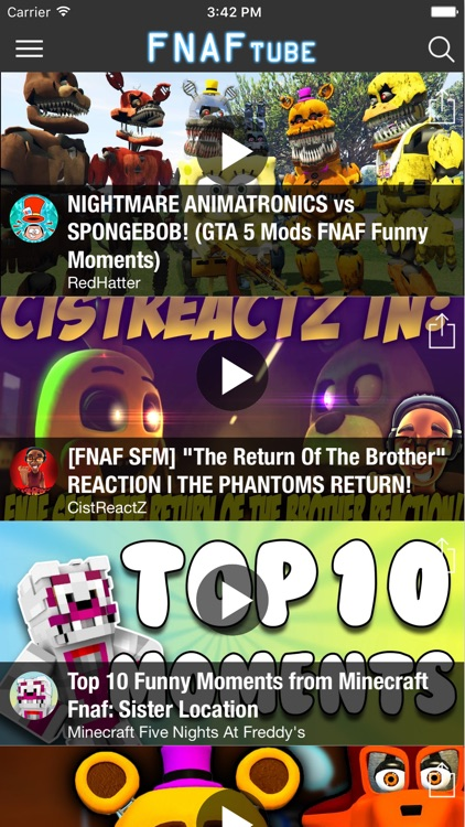 FNAF tube - Videos for Five Nights at Freddy's