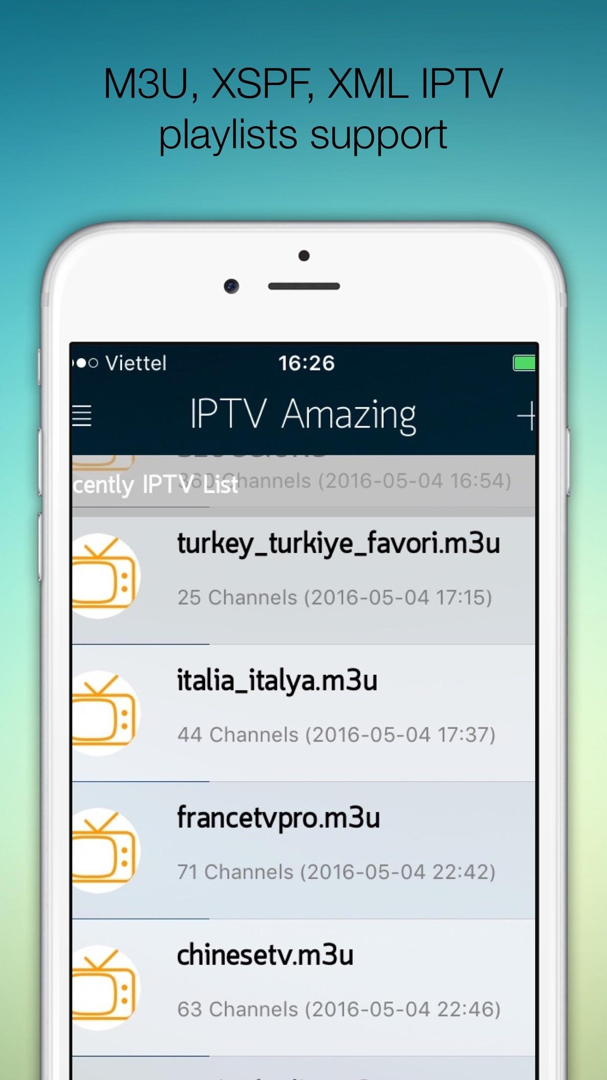 IPTV Pro:(Amazing) Support M3U XSPF XML JSON Screenshot