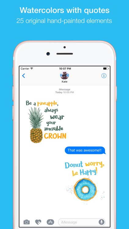 Watercolor Quotes Stickers by Maraquela screenshot-0