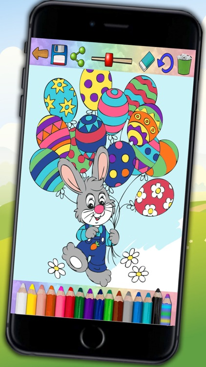 Paint Easter egg decorate & color bunnies - Pro