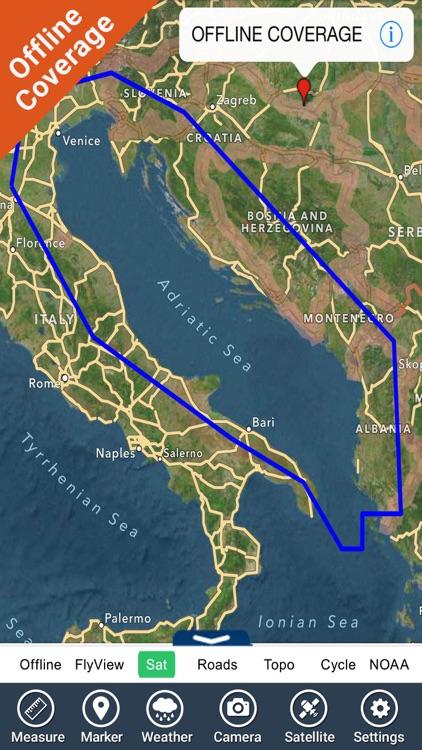 Adriatic sea GPS HD nautical charts fishing map screenshot-4