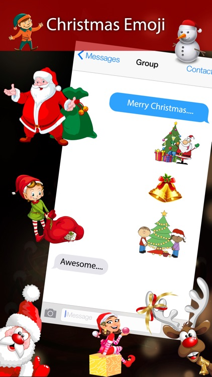 Holiday 3D Emojis - Christmas Holiday Emoji screenshot-3
