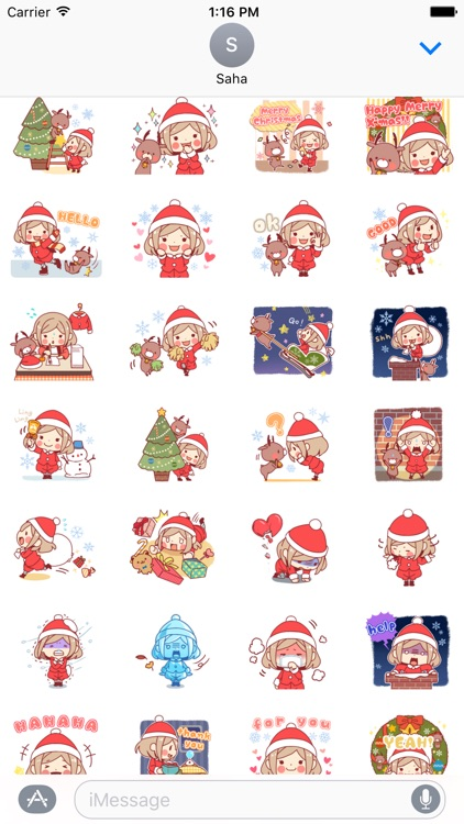 Merry Christmas Stickers for Girl