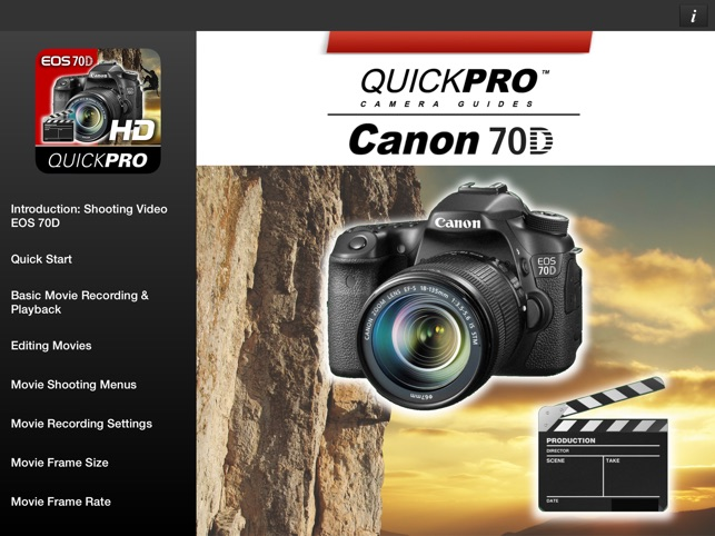 ‎Canon 70D Shooting Video HD from QuickPro