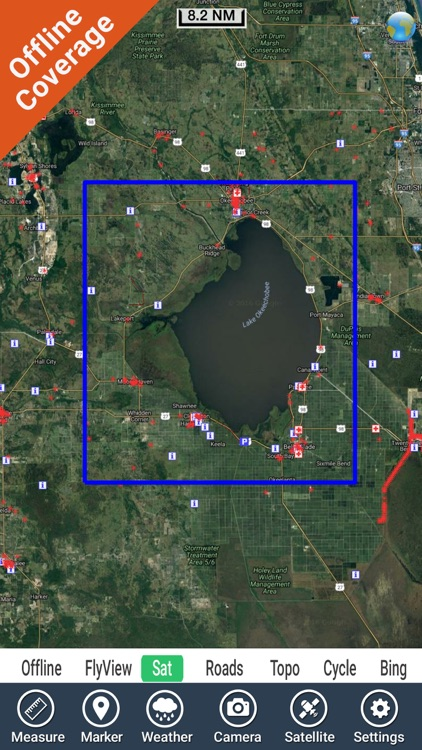 Lake Okeechobee Florida HD GPS fishing chart screenshot-4